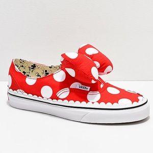 Vans Disney Minnie Mouse Bow Slip Ons Sneakers 5.5